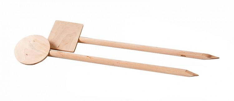 Fährtenschild aus Holz rund