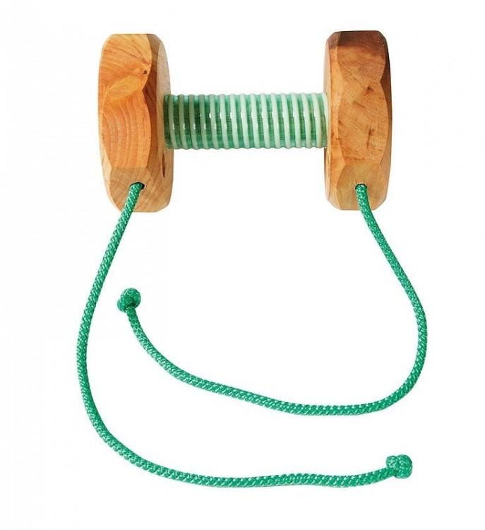 Apportierholz, Steg mit Gummi und Bändern