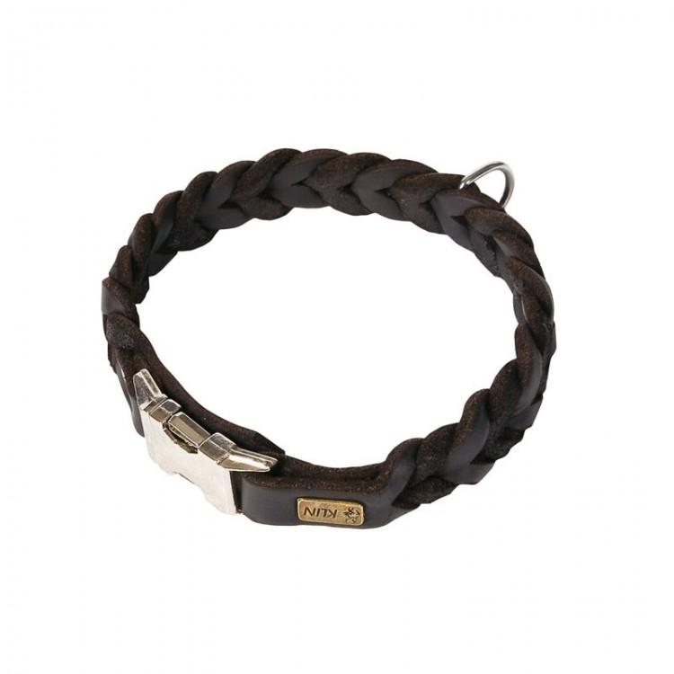 Klin - Fettleder Halsband mit Kehlkopfschutz