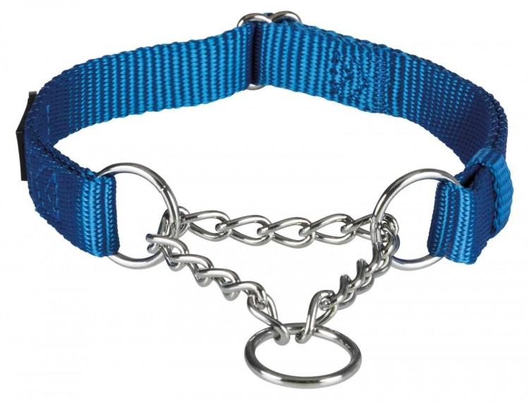 TRIXIE - Premium Zug-Stopp-Halsband, blau