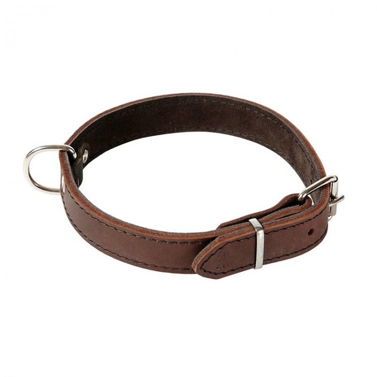 Klin - Halsband, genäht mit leichtem Lederfutter