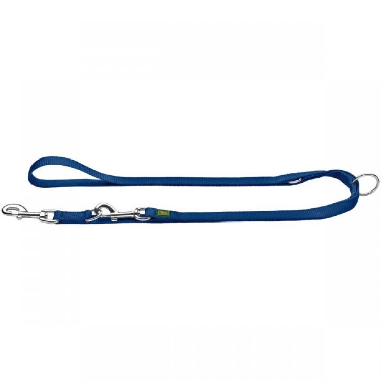 Hunter - Verstellbare Führleine Nylon - blau