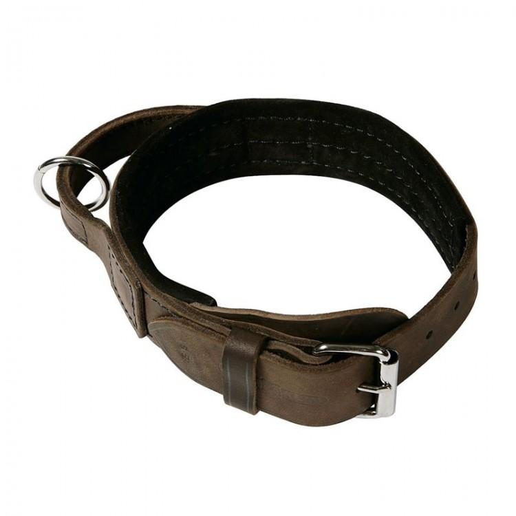 Klin - Hetz-Halsband Softleder mit Griff, gepolstert