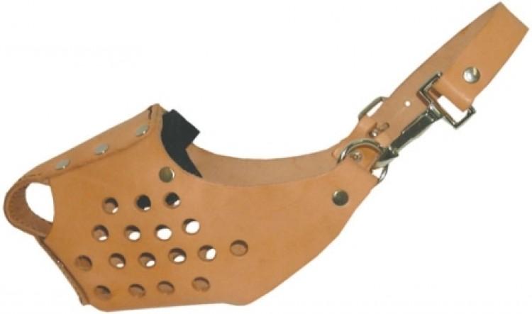 Schweikert - Maulkorb, Leder Bw mit Stahlschiene