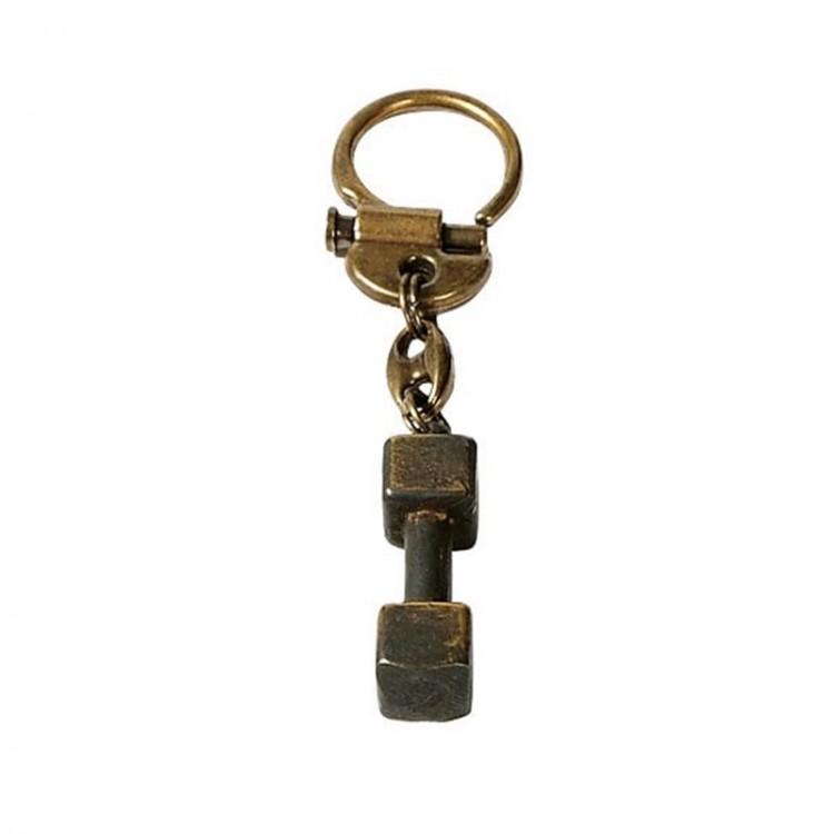 Schlüsselanhänger aus Messing - Apportierholz