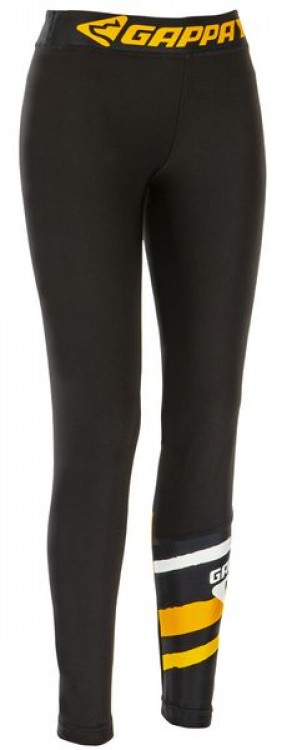 Gappay - Damen Leggings, schwarz-gold