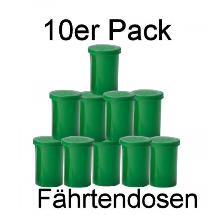 Fährtendosen, Fährtendöschen - 10er Set grün